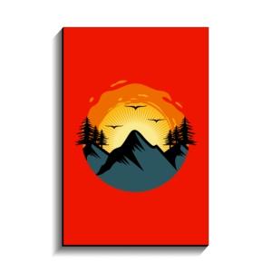 تخته شاسی طرح طلوع خورشید در کوه