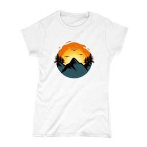 تیشرت طرح طلوع خورشید در کوه