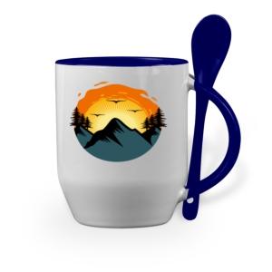 لیوان (ماگ) طرح طلوع خورشید در کوه