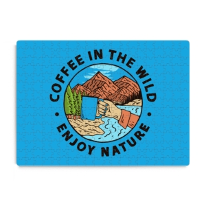 پازل طرح لذت نوشیدن قهوه در طبیعت بکر