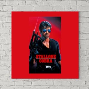 تابلو بوم طرح پوستر فیلم کبرا ۱۹۸۶ با نوشته