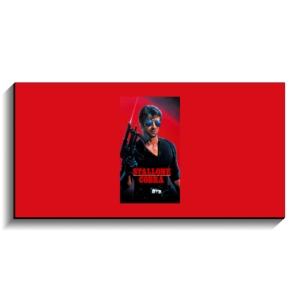 تخته شاسی طرح پوستر فیلم کبرا ۱۹۸۶ با نوشته