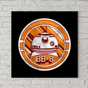 تابلو بوم طرح  مدال BB-8