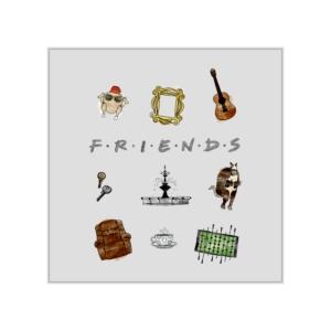 پوستر طرح نمادهای سریال فرندز