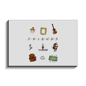 تخته شاسی طرح نمادهای سریال فرندز