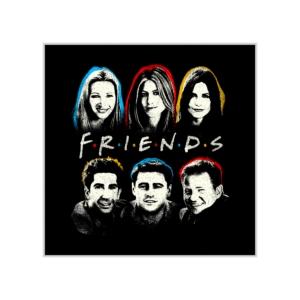 پوستر طرح چهرههای گروه فرندز