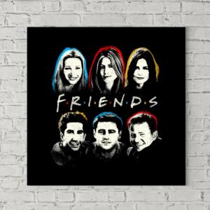 تابلو بوم طرح چهرههای گروه فرندز