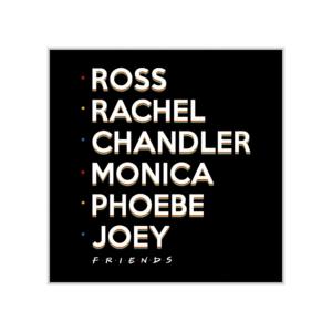 پوستر طرح اسامی کاراکترهای سریال فرندز