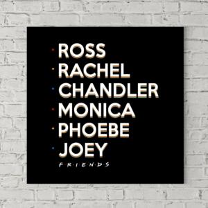 تابلو بوم طرح اسامی کاراکترهای سریال فرندز
