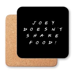 زیر لیوانی طرح جویی غذاشو با هیچکی شریک نمیشه
