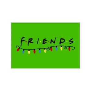 پوستر طرح لوگوی کریسمسی فرندز