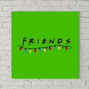 تابلو بوم طرح لوگوی کریسمسی فرندز