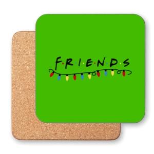 زیر لیوانی طرح لوگوی کریسمسی فرندز