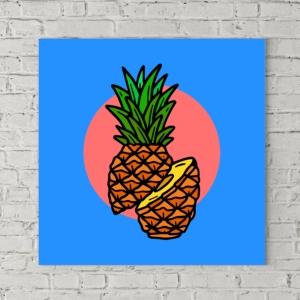 تابلو بوم طرح آناناس
