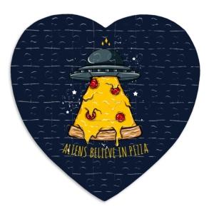پازل طرح فضاییها هم عشق پیتزا هستند
