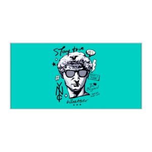 پوستر طرح تندیس داوود  (اثر میکل آنژ) مدرن شده