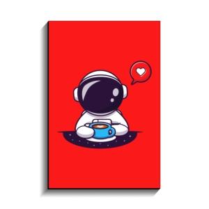 تخته شاسی طرح فضانورد فانتزی عشق قهوه