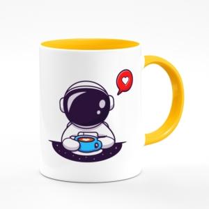 لیوان (ماگ) طرح فضانورد فانتزی عشق قهوه