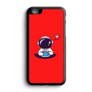 قاب موبایل طرح فضانورد فانتزی عشق قهوه