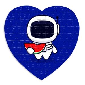 پازل طرح فضانورد فانتزی عشق قهوه